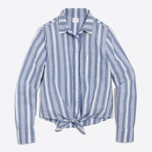 BRAND NEW!! J.Crew Factory Striped Tie Waist Shirt